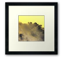 Yellow Sky Clouds Stirring  Framed Print