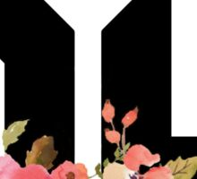 Younglife with watercolor flowers Sticker