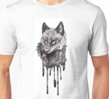 Silver Fox Dripping Ink Unisex T-Shirt