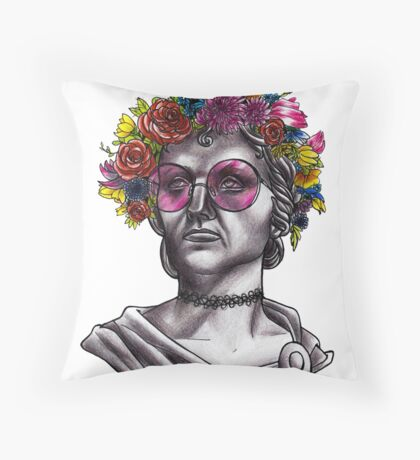 Ancient Hippie Throw Pillow