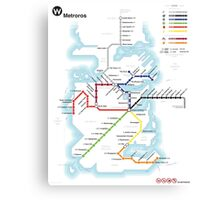 Game of Thrones - Metroros System Map Canvas Print