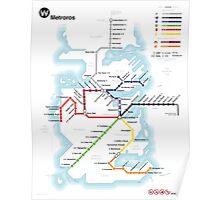 Game of Thrones - Metroros System Map Poster