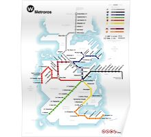 Game of Thrones - Metroros System Map Poster