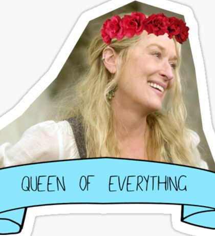 Queen Meryl Streep  Sticker