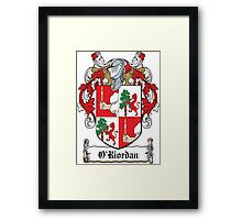 O'Riordan Coat of Arms (Cork) Framed Print