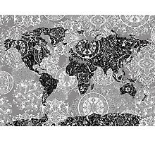 world map mandala 1 Photographic Print