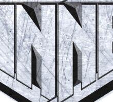 blade runner spinner logo grunge Sticker