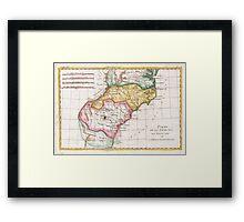 Vintage Map of The Carolinas (1780)  Framed Print