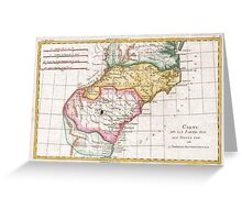 Vintage Map of The Carolinas (1780)  Greeting Card