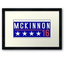 McKinnon for President - 2016 Framed Print