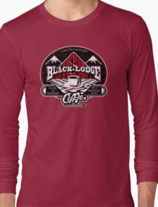 Black Lodge Coffee Company (distressed) Long Sleeve T-Shirt
