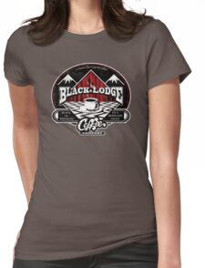 Black Lodge Coffee Company (distressed) Womens Fitted T-Shirt