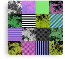 Pastel Art Grid Canvas Print