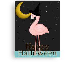 Pink Flamingo Halloween Canvas Print