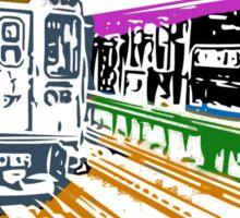 CTA Brownline to Kimball Sticker