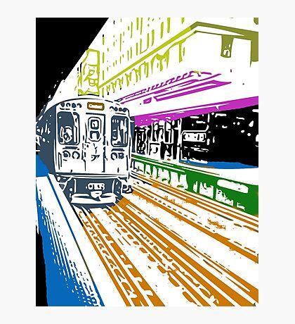 CTA Brownline to Kimball Photographic Print