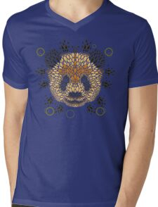 Panda Face Mens V-Neck T-Shirt