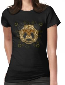Panda Face Womens Fitted T-Shirt