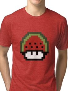 Pixellated Watermelon Mushroom  Tri-blend T-Shirt