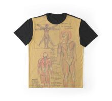 Anatomy of Muscular Android Graphic T-Shirt