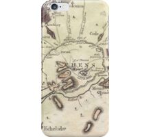 Vintage Map of Athens (1784)  iPhone Case/Skin