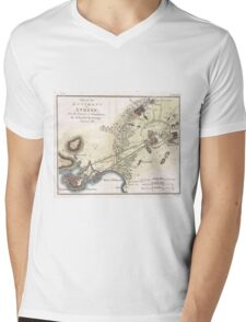Vintage Map of Athens (1784)  Mens V-Neck T-Shirt