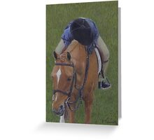 Young Girl and Pony Painting Greeting Card