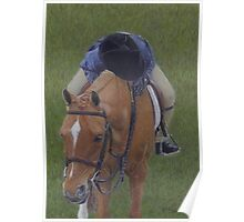 Young Girl and Pony Painting Poster