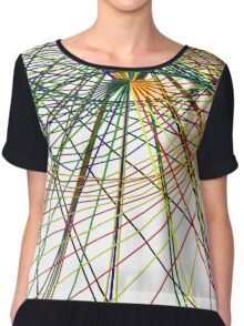 Wired Mapping Chiffon Top