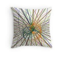Wired Mapping Throw Pillow