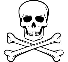 Skull and Crossbones Photographic Print