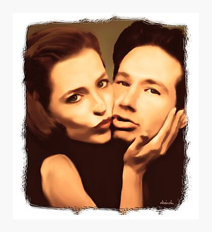 Gillian and David - The Schmoopies Photographic Print