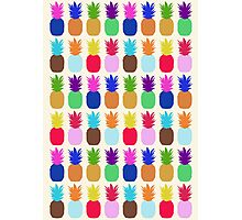 Pineapple Colourful Pattern (tight) Photographic Print