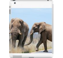 CONFRONTATIONS -  THE AFRICAN ELEPHANT – Loxodonta Africana iPad Case/Skin