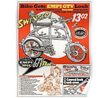 VW hotrod parts dream bike Poster