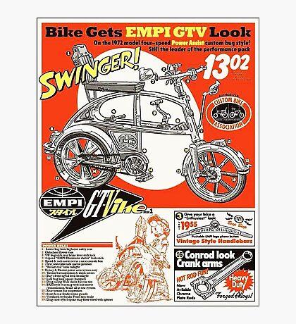 VW hotrod parts dream bike Photographic Print