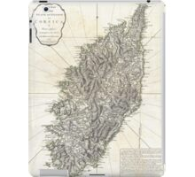 Vintage Map of Corsica (1794)  iPad Case/Skin