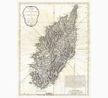 Vintage Map of Corsica (1794)  Unisex T-Shirt