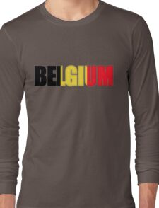 Belgium Flag  Long Sleeve T-Shirt