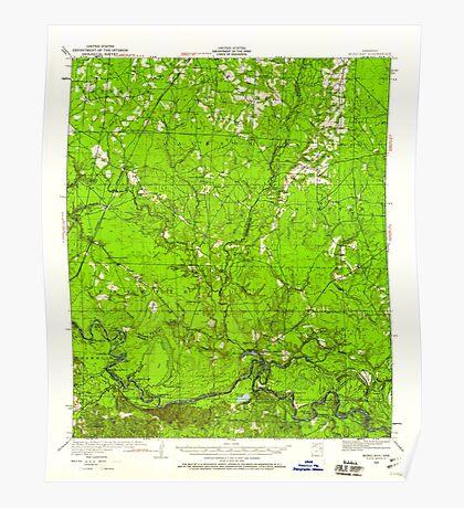 USGS TOPO Map Arkansas AR Moro Bay 260204 1934 62500 Poster