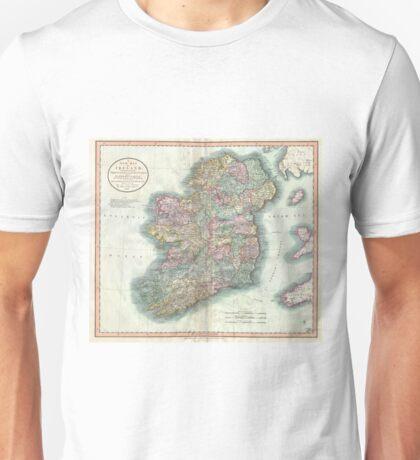 Vintage Map of Ireland (1799) Unisex T-Shirt