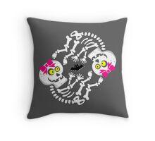 Maternity Skeleton Twin Girls Throw Pillow