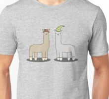 llamas with hats Unisex T-Shirt