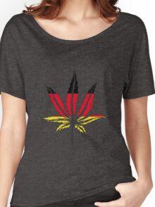 Cannabis (marijuana) leaf flat icon, Women's Relaxed Fit T-Shirt