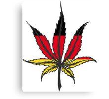 Cannabis (marijuana) leaf flat icon, Canvas Print