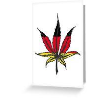 Cannabis (marijuana) leaf flat icon, Greeting Card