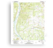 USGS TOPO Map Arkansas AR Bethesda 257989 1989 24000 Canvas Print