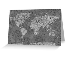 world map mandala 3 Greeting Card