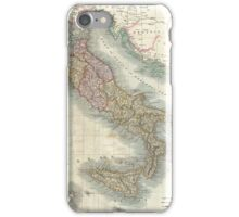Vintage Map of Italy (1799)  iPhone Case/Skin