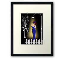 A lady returning from a party (7013 Views) Framed Print